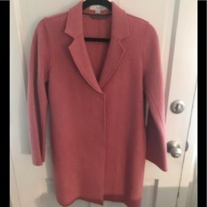 Boiled wool coat soft pink 8P very good condition